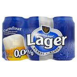 Carrefour Lager Blonde Bière sans Alcool 6 x 33 cl