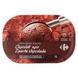 Carrefour Roomijs Zwarte Chocolade 500 g