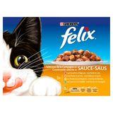 FELIX Kattenvoer Gevogelte Selectie in Saus 12 x 100 g