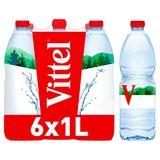 VITTEL Eau Minérale Naturelle 6 x 1 L