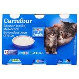 Carrefour Boisson Lactée Junior & Adult 3 x 200 ml