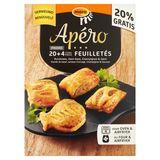 Mora Apéro Feuilletés Rundvlees, Ham-Kaas, Champignon & Zalm 6 x 4 Stuks 528 g