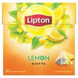 Lipton Pyramides Thé Noir Citron 20 Sachets 34 g