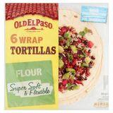 Old El Paso 6 Wrap Tortillas Flour 350 g