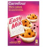 Carrefour Easy Mix Mini Cakes met Chocoladesnippers x 20 265 g