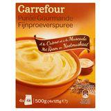 Carrefour Purée Gourmande à la Crème et à la Muscade 4 x 125 g