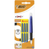 Bic Stylo-plume XPen Rechargeable+6 Cartouches d'Encre Bleue Aléatoire