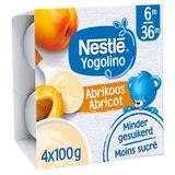 Nestlé Yogolino Abricot 6+ Mois 4 x 100 g