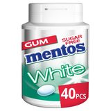 Mentos Chewing Gum White Green Mint Sugarfree 40 Dragees 60 g
