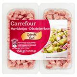 Carrefour Dés de Jambon Cuit 2 x 75 g