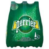 PERRIER® Bruisend Natuurlijk Mineraalwater met Toevoeging van Koolzuurgas Fles 6 x 1 L