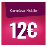 Carrefour - Herlaadkaart Mobile 12 euro