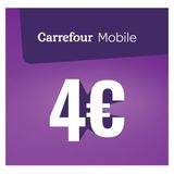 Carrefour - Recharge Mobile 4 euro