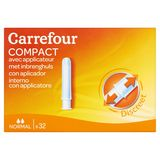 Carrefour Compact avec Applicateur Normal 32 Pièces