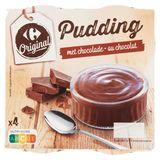 Carrefour Pudding Chocolade 4 x 140 g