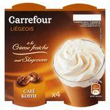 Carrefour Liégeois met Slagroom Koffie 4 x 100 g