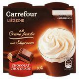 Carrefour Liégeois met Slagroom Chocolade 4 x 100 g