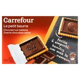 Carrefour Le Petit Beurre Zwarte Chocolade Tablet 10 x 25 g