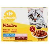 Carrefour Emincés en Sauce Adult 12 x 100 g