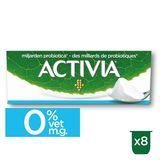Activia Yaourt Nature 0% avec Probiotiques 8 x 125 g