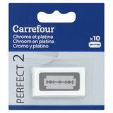 Carrefour Perfect 2 Chroom en Platina 10 Vervangmesjes