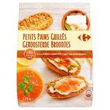 Carrefour Geroosterde Broodjes met Volkorenmeel 225 g