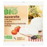 Carrefour Bio Mozzarella au Lait Pasteurisé de Vache 125 g