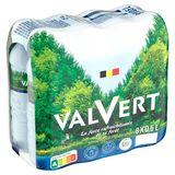VALVERT® Eau Minérale Naturelle Belge 50 cl PET Bouteille (Pack 8 Bouteilles)