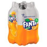 Fanta Zero Orange 4 x 1.5 L