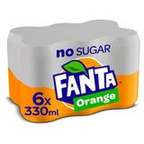 Fanta Zero Orange Can 0.33 L x 6
