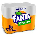 FANTA ZERO ORANGE SLEEKCAN 330ML X 6