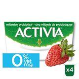 Activia Yoghurt Aardbei 0% met Probiotica 4 x 125 g