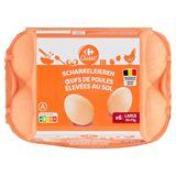 Carrefour Scharreleieren Large 6 Stuks