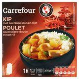 Carrefour Kip met Zoetzure Saus en Rijst 375 g