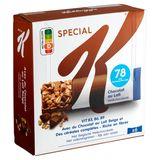 Kellogg's Special K Barres Croustillantes avec du Chocolat au Lait Belge 6 x 20 g