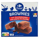 Carrefour American Brownies 8 x 30 g