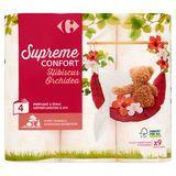 Carrefour Supreme Confort Hibiscus Orchidea 4-Laags 9 Rollen