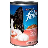 FELIX Nourriture Chat Terrine en Gelée Saumon et Truite 400 g