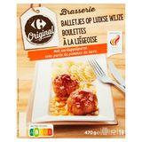 Carrefour Original Brasserie Boulettes à la Liégeoise avec Purée de Pommes de Terre 470 g