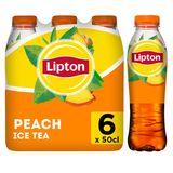 Lipton Iced Tea  Ijsthee   Perzik laag in calorieën 6 x 50 cl