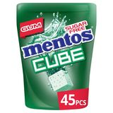 Mentos Gum Cube Ice Green Mint Bottle 90 g