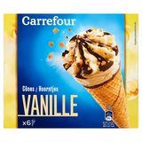 Carrefour Hoorntjes Vanille 6 x 68.17 g