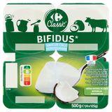 Carrefour Bifidus Aromatisé Saveur Coco 4 x 125 g