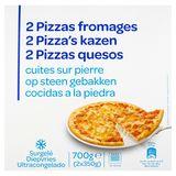 2 Pizzas Fromages Cuites sur Pierre 2 x 350 g