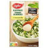 Iglo Bladspinazie met Mozzarella 450 g