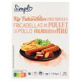 Carrefour Discount Fricadelles Poulet 20 Pièces 1.4 kg
