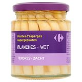 Carrefour Pointes d'Asperges Blanches Tendres 225 g