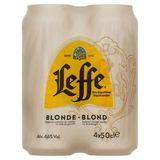 Leffe Bière Belge d'Abbaye Blonde Canettes 4 x 50 cl