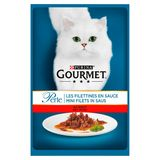 Gourmet Perle Kat Mini Filets in Saus met Rund 85 g