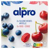 Alpro Soya Blauwe Bosbes-Kers 4 x 125 g